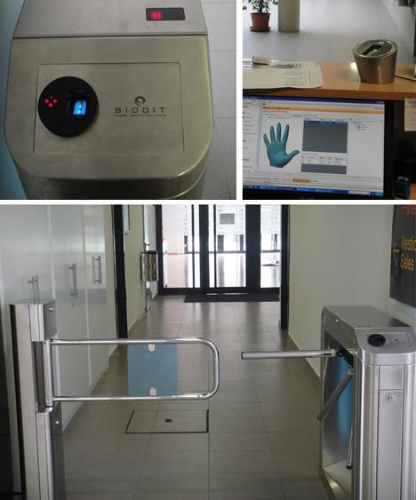 Sistema de dispositivos biométricos en el Polideportivo Virgen del Carmen de Beteró de Biodit