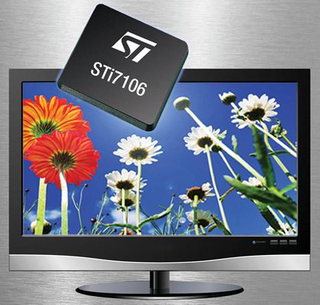 Decodificador de vídeo para set-top boxes STi7106 de STMicroelectronics.
