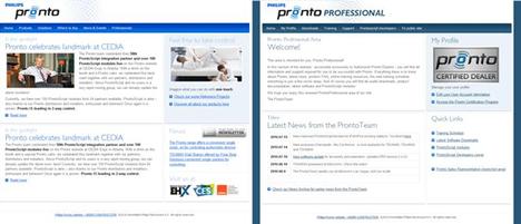 Web Philips Pronto