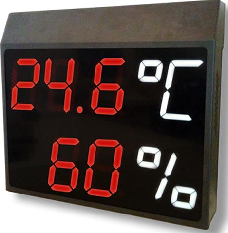 Pantalla Temperatura y Humedad de Temper Clima