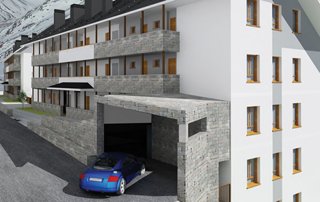 30 viviendas en Candanchú para Promociones Bayoher de Ingeniería Domótica