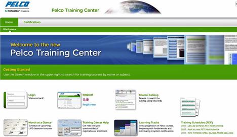 Página web Training de PELCO, by Schneider Electric