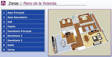Detalle interface iPad con Iddero en vivienda de Docelar Ingeniería con KNX e Pantalla Iddero.