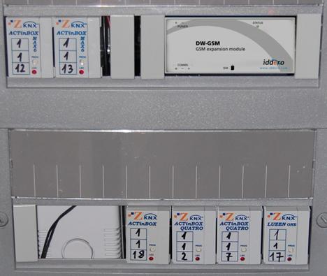 Cuadro Eléctrico con módulos KNX.