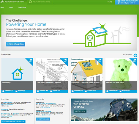 ecomagination Challange: Powering Your Home de GE