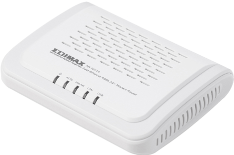 Módem router ADSL2+ AR-7211A/B.
