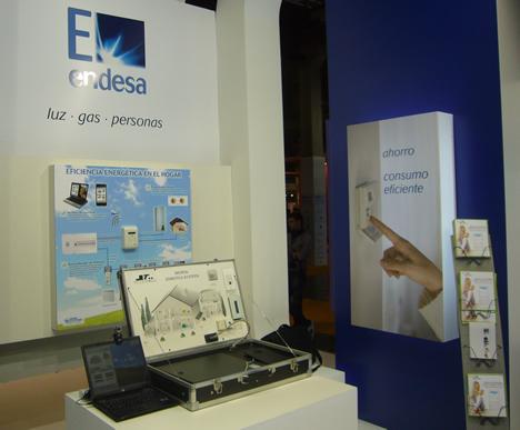 Sistemas ECOBOX y TELETASK de Home Systems en el Stand de Endesa en la feria EGETICA