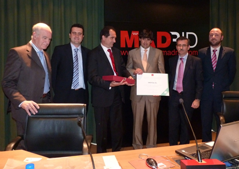 Imeyca recibe el Premio de la Mejor Instalación de Inmótica de la Comunidad de Madrid.