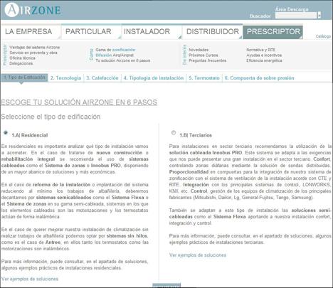 """Nueva herramienta """"Tu solución Airzone en 6 pasos"""""""
