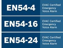 Certificaciones EN-54 para los sistemas de evacuación por voz de Bosch Security Systems