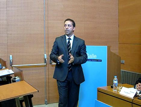 Juan Pérez Rodriguez, Director del Parque Tecnológico de La Salleen la Asamblea General de 2010