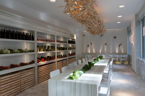 Iluminación del restaurante situado en Casa Decor