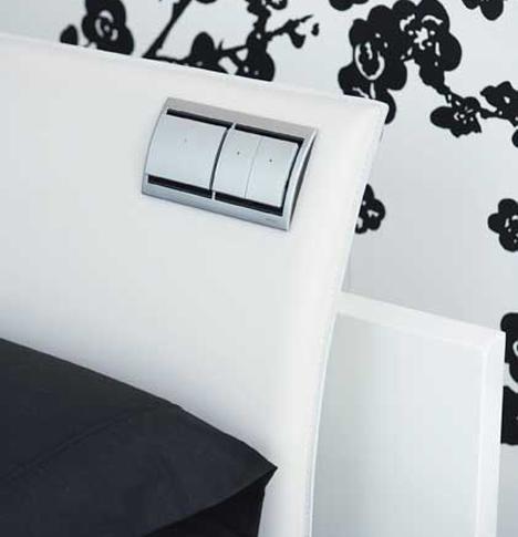 Interruptores en la cama