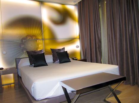 Habitación del Hotel España en Barcelona