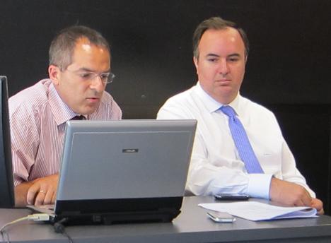 Antonio Moreno de Jung y Alvaro Mallol de WAGO /DICOMAT, Presidente y Vicepresidente de KNX España