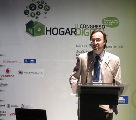 Alberto Brunete de CEDINT en el II Congreso de Hogar Digital