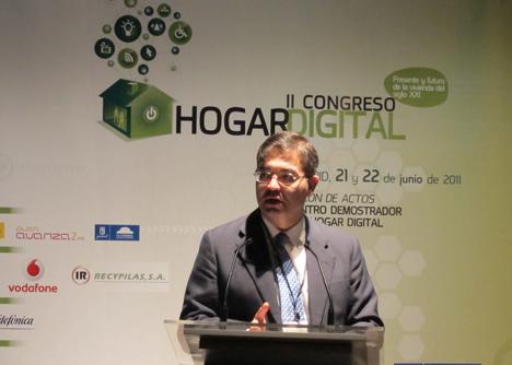 Alejandro Arranz del Ayuntamiento de Madrid en el II Congreso del Hogar Digital