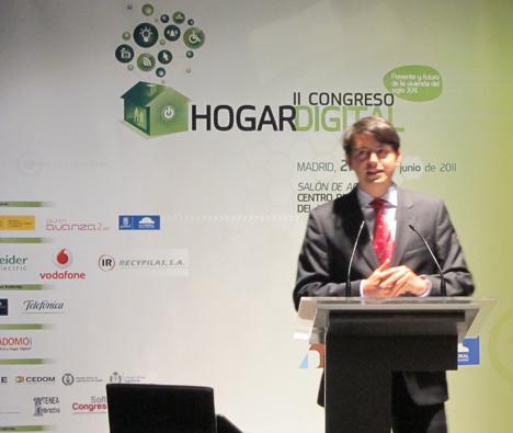 Ángel F. Aguado de la UPM en el II Congreso de Hogar Digital