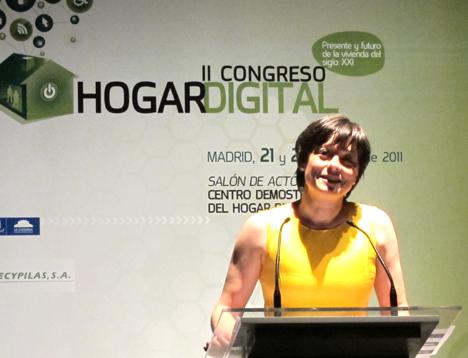 Carmen Valencia de COAM en el II Congreso del Hogar Digital