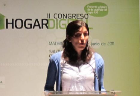 Noelia Miranda del COIT en el II Congreso de Hogar Digital