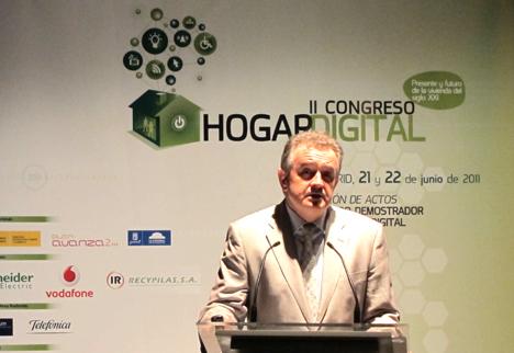 Enrique Funke de COIT en el II Congreso del Hogar Digital
