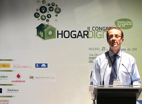 Isidoro Pérez de la Universidad Europea de Madrid en el II Congreso de Hogar Digital