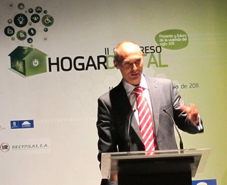 José Manuel Ruiz de Blusens en el II Congreso de Hogar Digital