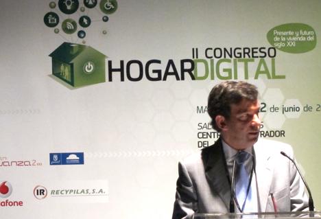 José Miguel Solans de Schneider Electric en el II Congreso de Hogar Digital