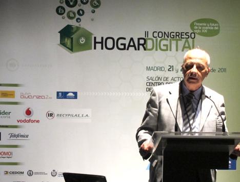Juan Antonio Muñoz de AMETIC en el II Congreso de Hogar Digital
