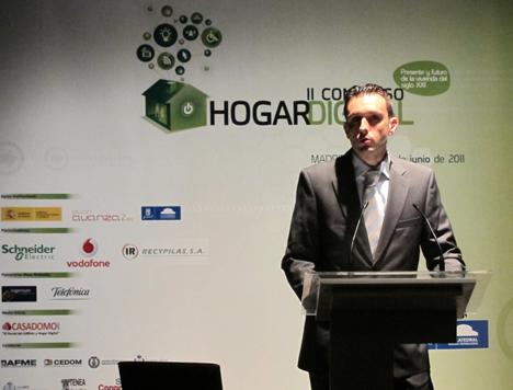 Jorge Juan Rico de Ingenium en el II Congreso de Hogar Digital