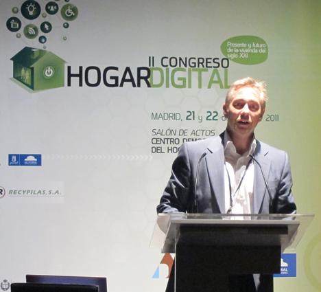 Miguel Ángel Blanco de Microsoft en el II Congreso de Hogar Digital