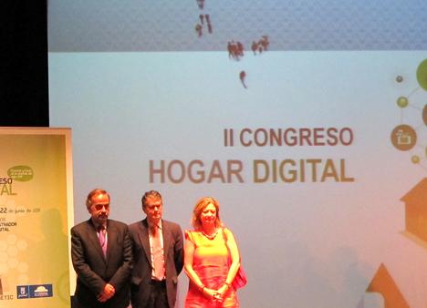 Pariticipantes en la inauguración del II Congreso de Hogar Digital