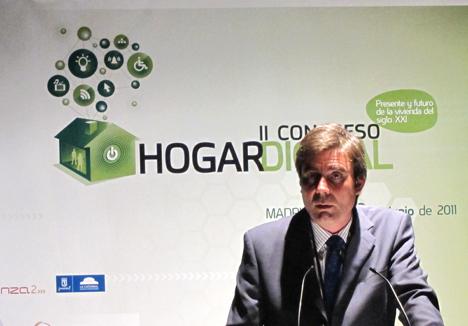 Rafael Riveiro de AMETIC en el II Congreso de Hogar Digital