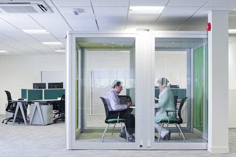 Sala de reuniones de la nueva sede de Plantronics