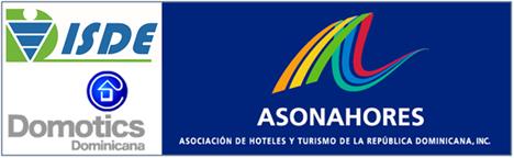 Logo Isde y logo de Domotics Dominicana. Acuerdo comercial entre ambas compañías