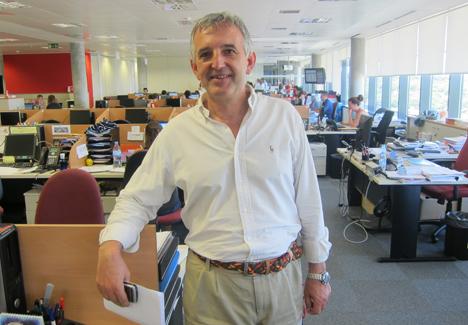 Ramón Cuerda en la oficina de Securitas Direct
