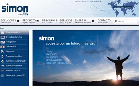 Nueva web de Simon