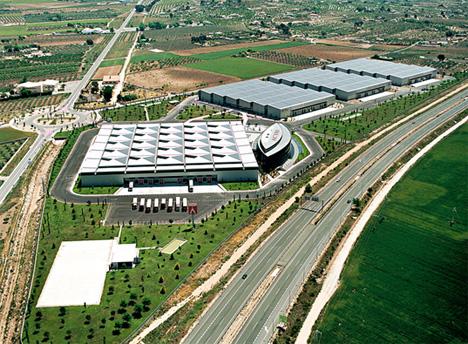 Vista aérea de la sede de la empresa
