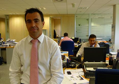 Fernando Torres en las oficinas de Visiona Security
