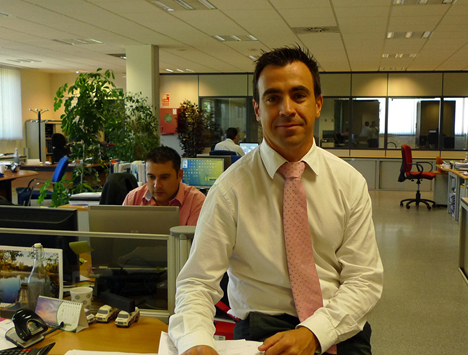Fernando Torres en las intalaciones de Visiona Security