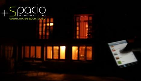 control de vivienda desde iPhone de +Spacio.