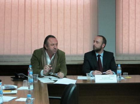 Alfredo Villalba, vocal de CEDOM (izqda) y Álvaro Ros, vicepresidente CEDOM (dcha)