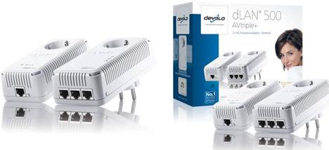 Adaptadores PLC dLAN 500 de Devolo