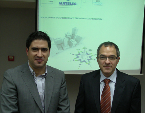 D. Raúl Calleja, director de Matelec y  Antonio Moreno, presidente de KNX España