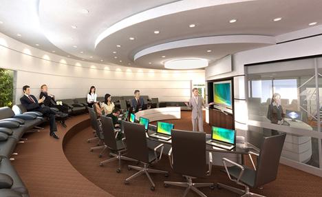 Auditorio del edificio Fénix Business Center.