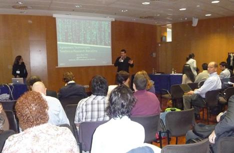 Carles Sierra, vicedirector del IIIA-CSIC, durante la jornada sobre Tecnologías del Acuerdo celebrada en Barcelona