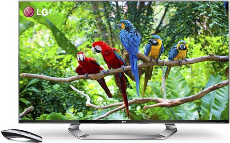 Smart TV LM9600 y mando Magic Remote, de LG