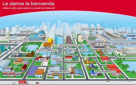 """Captura de pantalla de la web """"Honeywell City"""""""