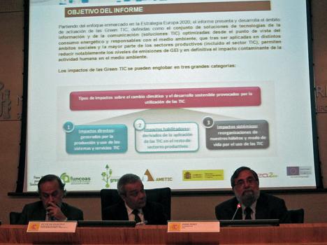 Presentación del informe sobre las GreenTIC