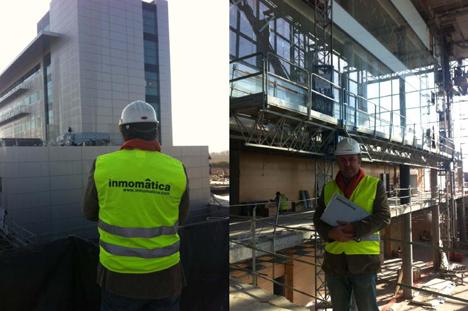 Dos imágenes del edificio IMDEA Materiales en el que está trabajando Inmomatica